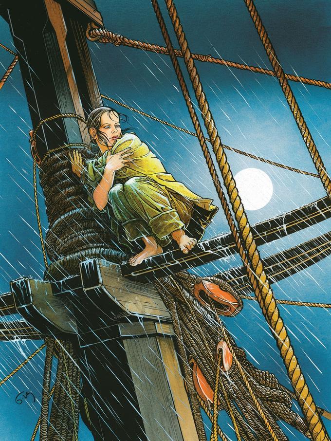 Couverture du tome des «Passagers du vent» réalisée lors de la reprise de la saga par les éditions 12 bis puis Delcourt.