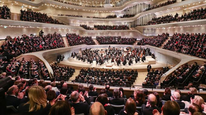 À l'Elbphilharmonie de Hambourg, près d'un quart des sièges est installé dans le dos des solistes qui s'y produisent.