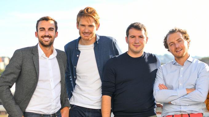 Les quatre cofondateurs de Wing. De gauche à droite: Jean-Baptiste Maillant, Antoine Sentenac, Justin Brottes et Clément Kuhn.