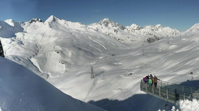 Vue sur le versant italien du Mont-Blanc