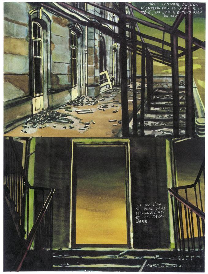 Dans «Dernière Bande», l'ultime bande dessinée d'Alex Barbier, le narrateur condamné à errer seul dans les pièces désespérément vides d'un casino, sera confronté aux fantômes du passé.