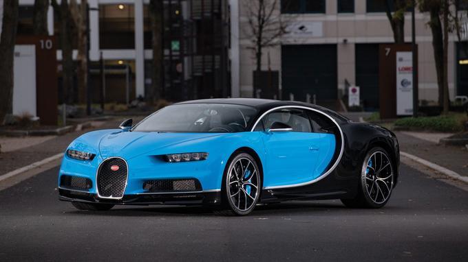 Une Bugatti Chiron figurait parmi les stars de la vente.
