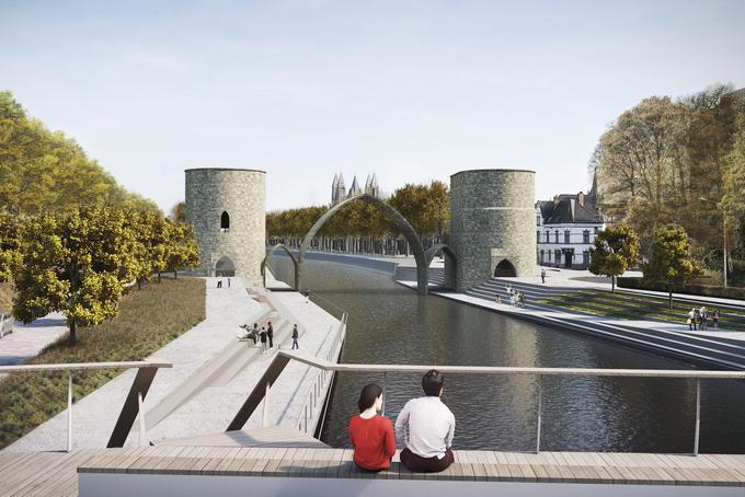 Image de synthèse du futur «pont des Trous».