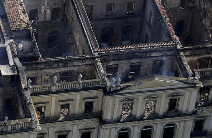 Seuls les murs du musée ont résisté à l'incendie dont les causes restent inexpliquées à ce jour.