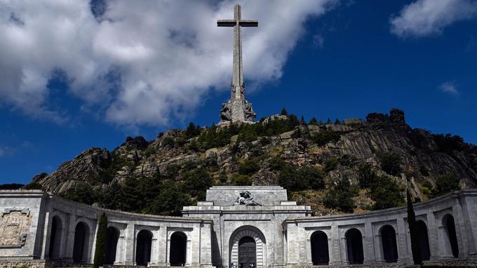 El Valle de los caidos à San Lorenzo del Escorial près de Madrid.