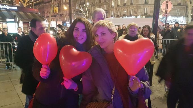 Les ballons de la Saint-Valentin étaient assortis à l'œuvre de Joana Vasconcelos.