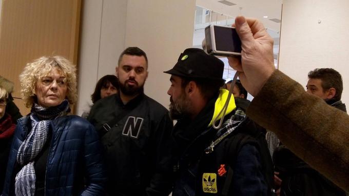 Eric Drouet arrive au tribunal correctionnel de Paris en compagnie de Jérôme Rodrigues, ce vendredi. <i>Crédits: Angélique Négroni/Le Figaro.</i>