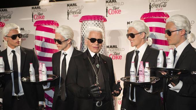 Karl Lagerfeld et le Coca-Cola light.
