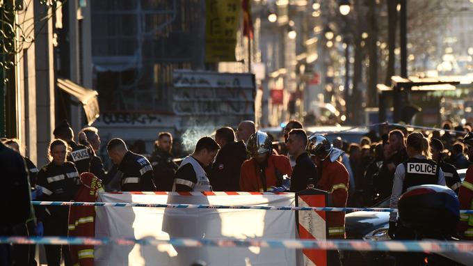 La police sur les lieux de l'attaque. <br/>
