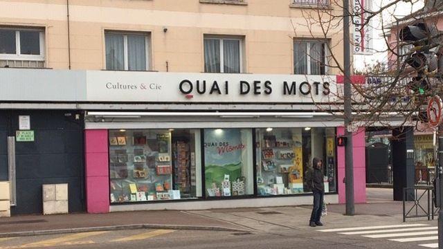 La librairie «Le Quai des Mots», à Épinal, dans les Vosges.