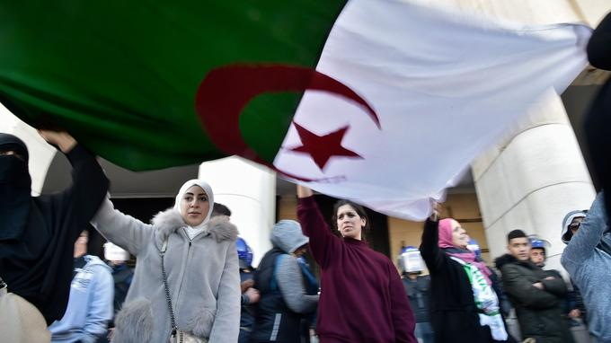 Des drapeaux algériens étaient visibles dans plusieurs cortèges.