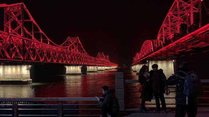 Le pont de «l'amitié» reliant la Corée à la Chine.