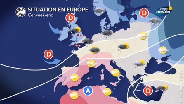 La situation en Europe ce week-end.