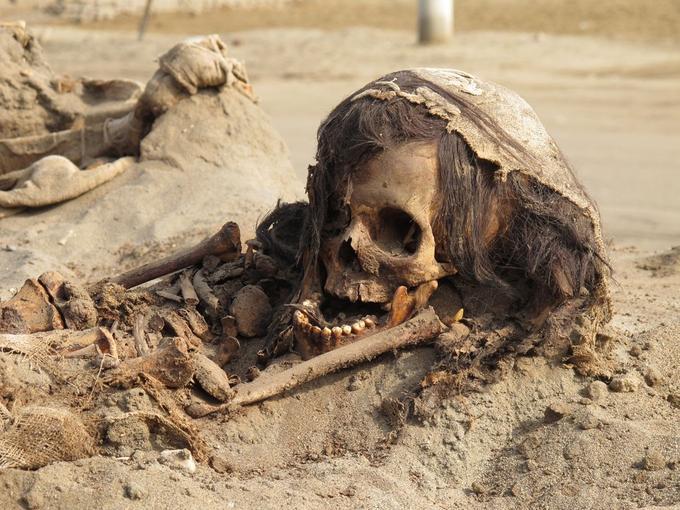 Les restes de certains enfants ont été particulièrement bien conservés.