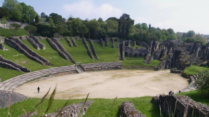 Achevé dans les années 40 après J.C, l'amphithéâtre de Saintes figure parmi les 18 sites sélectionnés par la fondation du Patrimoine.
