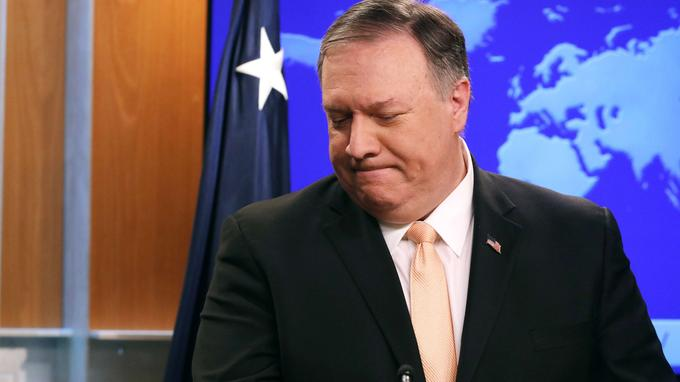 Mike Pompeo, critiquant l'aide apportée par la Russie et Cuba au gouvernement vénézuélien.