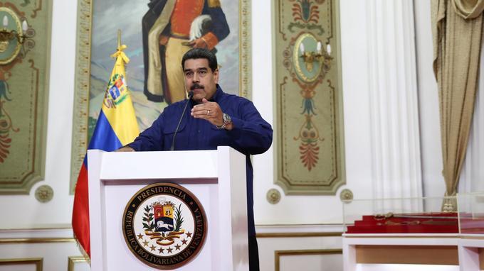 Nicolas Maduro lors de son discours du 11 mars.