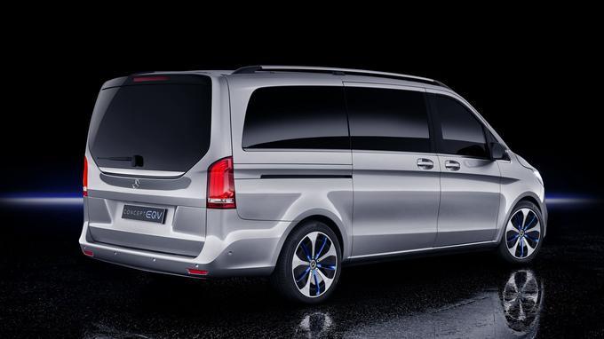 De l'extérieur, l'EQV ressemble en tout point à un van propulsé par une motorisation thermique.