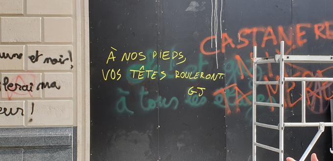 A proximité de l'Apple Store des Champs-Elysées. Crédit photo: WGB/Le Figaro