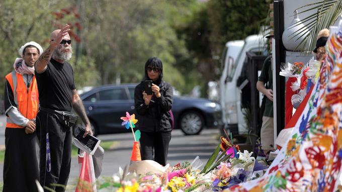Hommage aux victimes à Auckland.