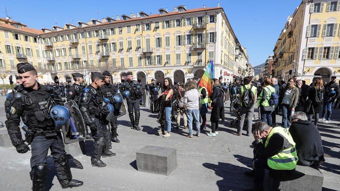 Place Garibaldi, à Nice. © Valery Hache - AFP
