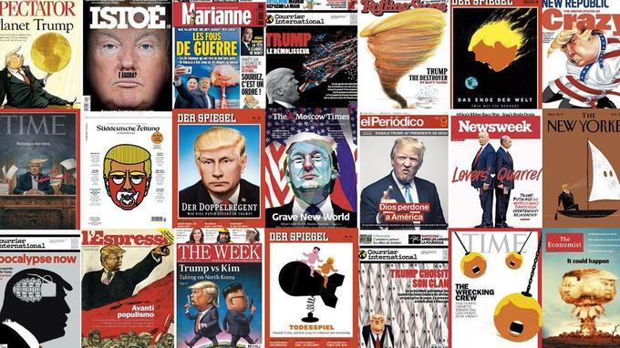 Une année de Trump en 50 unes marquantes de la presse mondiale - Le Figaro