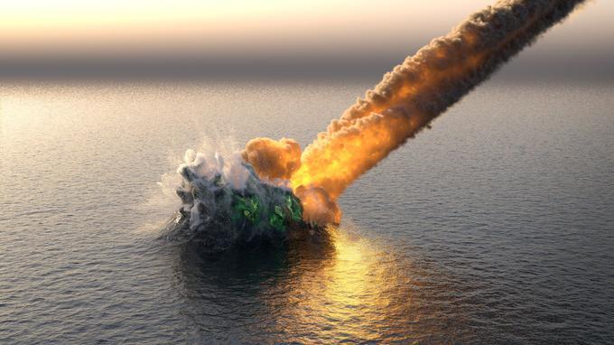 La météorite qui a tué les dinosaures a formé une vague de 1500 mètres de haut XVM05743830-15b4-11e9-b388-52387b4dd7ab