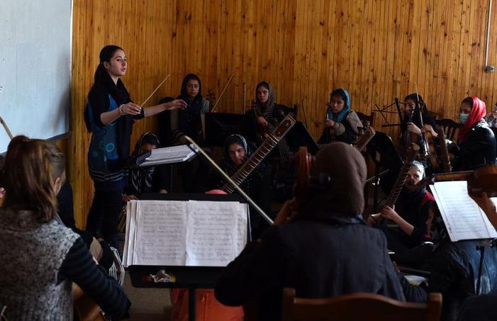 L'orchestre «Zohra» en pleine répétition
