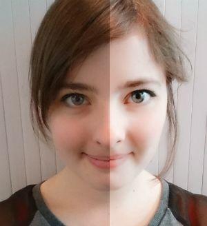 BeautyPlus prima (sinistra) e dopo.