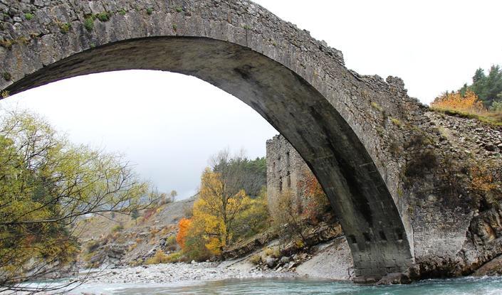 L'arche principale du pont d'Ondres, «en plein cintre»