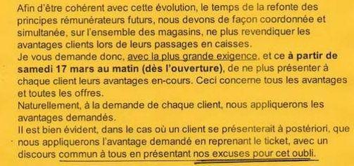 Un extrait du courriel controversé de la direction de La Halle (capture d'écran sur le site du Monde).
