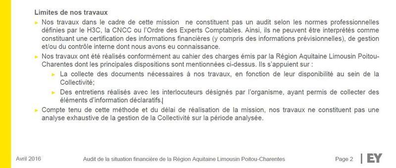 Rapport sur la région Aquitaine Limousin Poitou Charentes réalisé par EY.