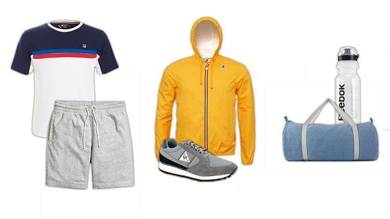 outlet store 8ff51 1dd87  b Le sportif rétro  b  - T-Shirt Fila (39,95  8364 ), Coupe-vent K-Way  (99  8364 ), Gourde Reebok (7  8364 ), Short H amp M (14,99  8364 ),  Baskets Le Coq ...