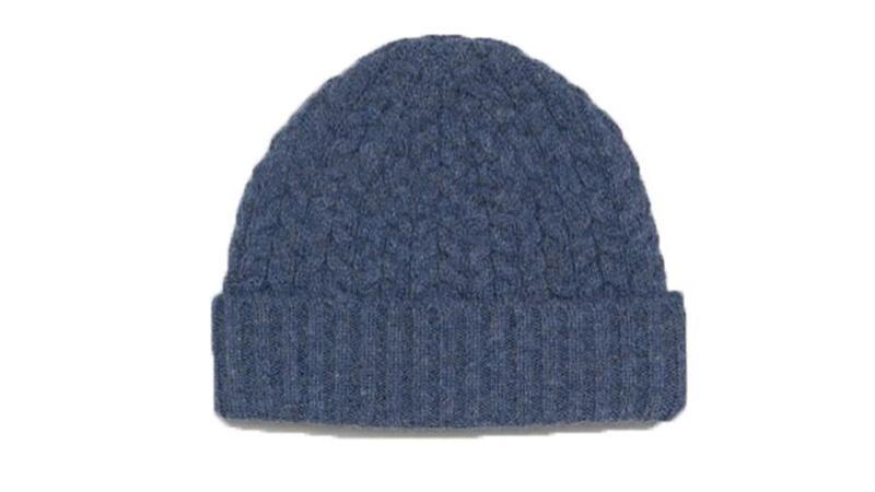 Asos Bonnet torsadé style pêcheur en laine d agneau mélangée bleu jean  10,99 €. 12b3ea94fe7