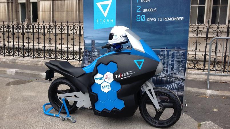 Une moto du projet dévoilée lors de la présentation (DR)