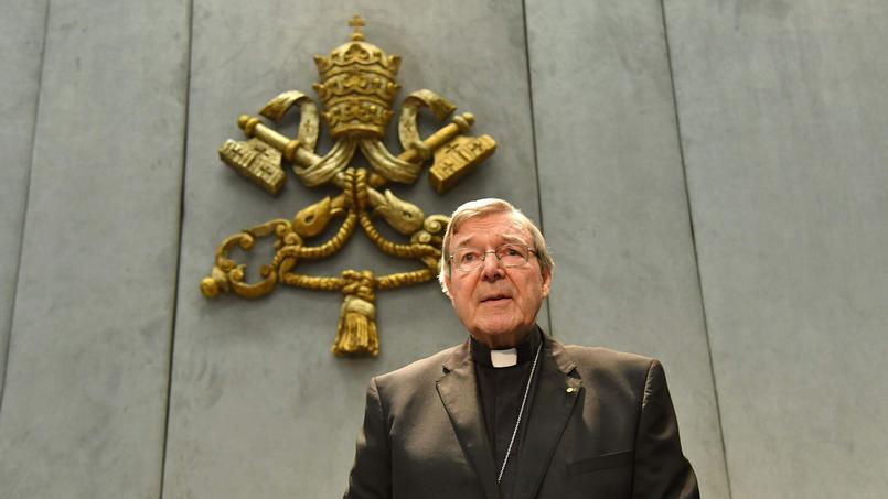 Le cardinal Geroge Pell lors de sa prise de parole devant la presse, jeudi à Rome.