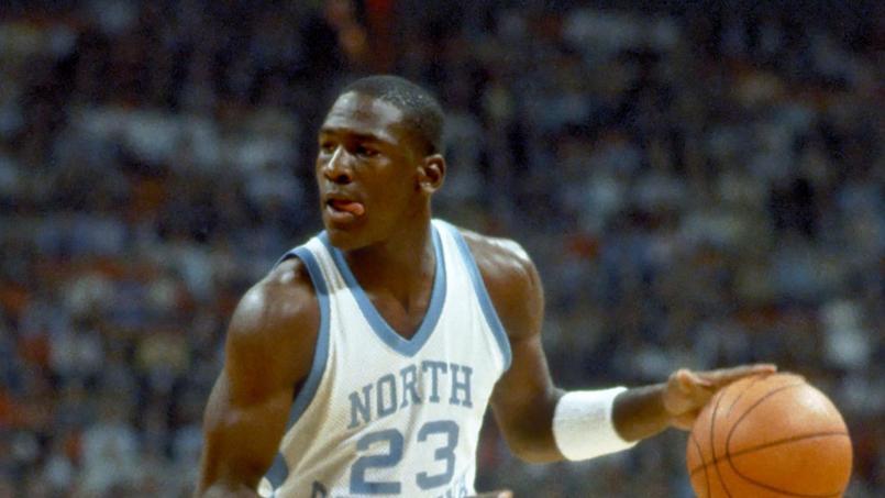 Michael Jordan en 1984 sous les couleurs de l'université de North Carolina.