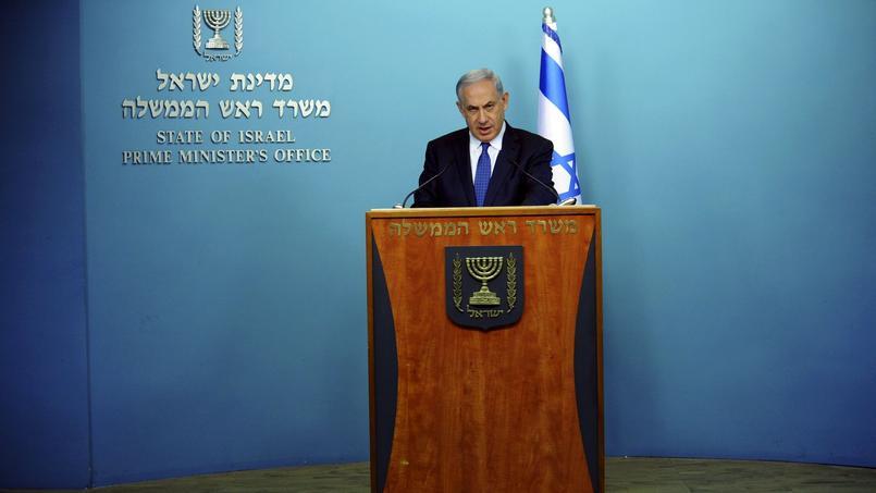 Benyamin Nétanyahou (le 1er avril, à Jérusalem) estime que «l'existence même d'Israël est en jeu» si l'Iran se dote de l'arme nucléaire.
