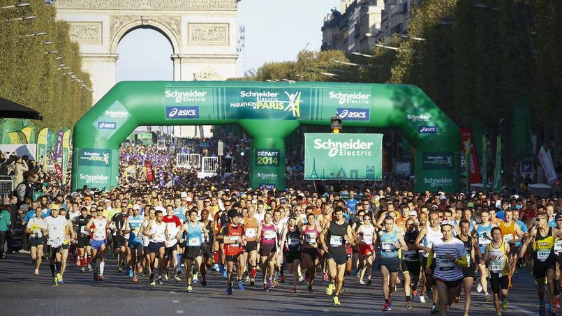 Le départ du Marathon de Paris en 2014.