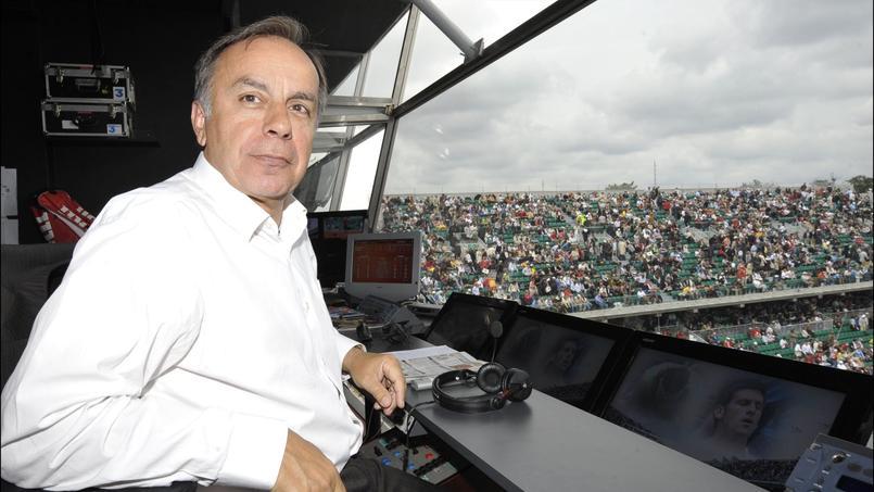 Patrice Dominguez aux commentaires de Roland-Garros en 2008.