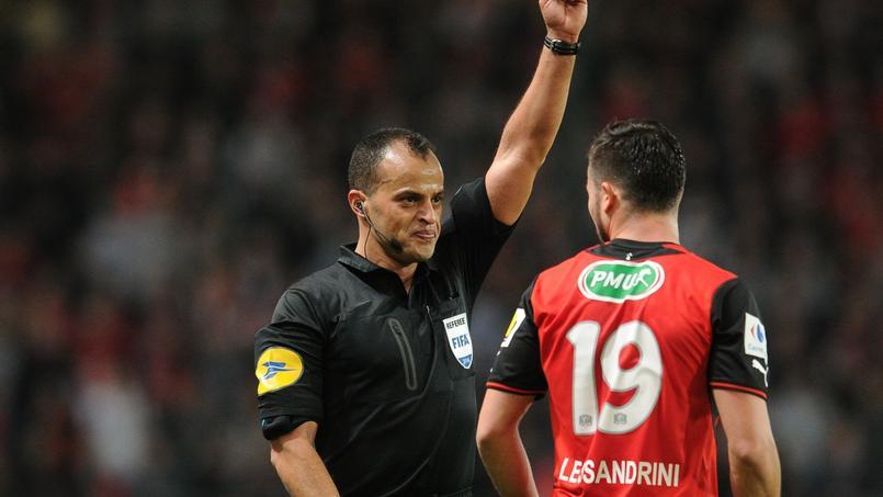 Saïd Enjimi lors de la rencontre de Coupe de France entre Rennes et Angers en 2014.