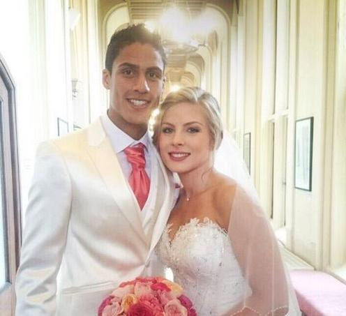 Raphaël Varane a épousé Camille Tytgat au Touquet.