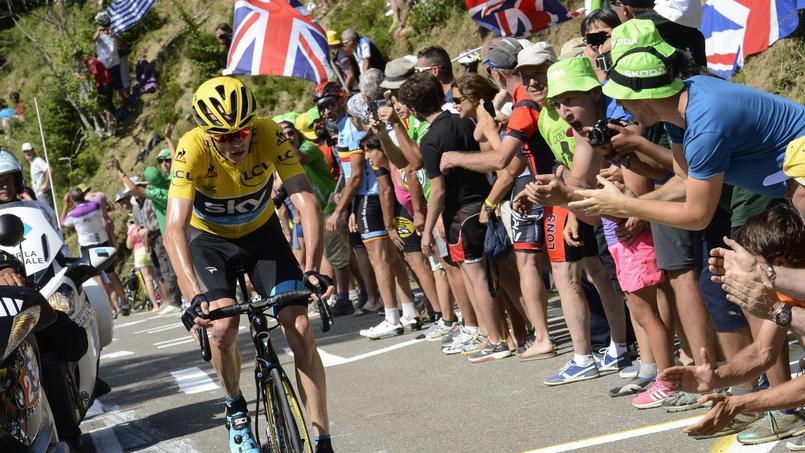 Christopher Froome atteint souvent des valeurs de puissance élevées lors d'accélérations durant les étapes montagneuses sur le Tour de France.