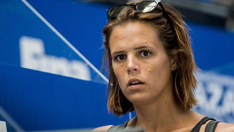Laure Manaudou durant les Championnats du monde de natation 2015 à Kazan au mois d'août.