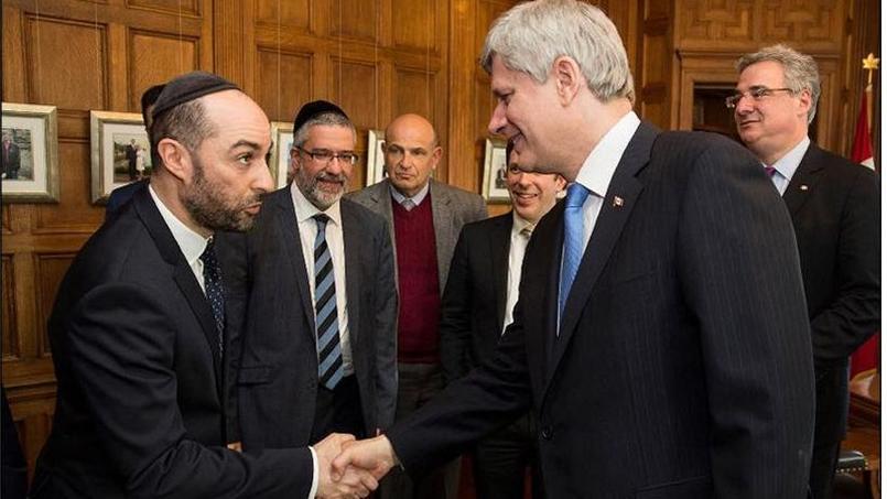 Steve Maman avec Stephen Harper, le premier ministre canadien.