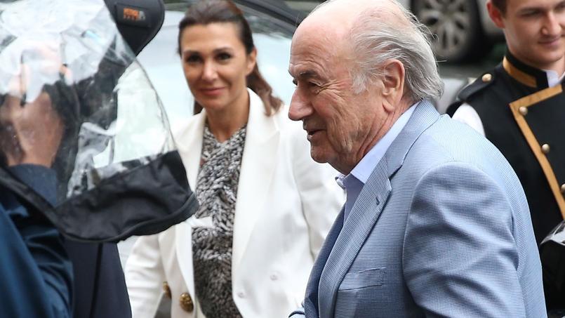Sepp Blatter le 23 juillet dernier pour le tirage des éliminatoires de la Coupe du monde 2018 à Saint-Pétersbourg.