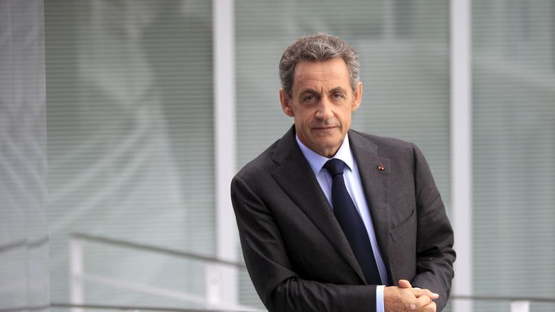 Nicolas Sarkozy au siège des Républicains, mardi à Paris.