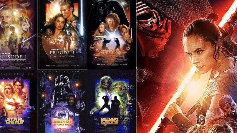 star wars vii les affiches officielles disent tout de la saga intergalactique. Black Bedroom Furniture Sets. Home Design Ideas