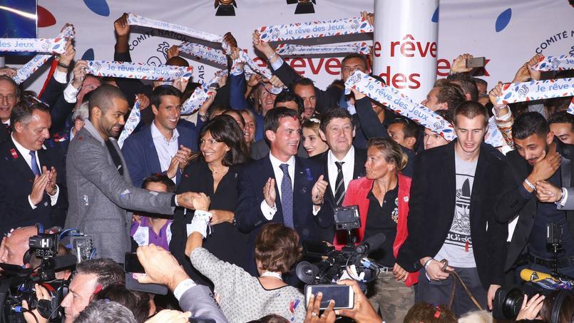 Tony Parker à la soirée de lancement de la campagne.
