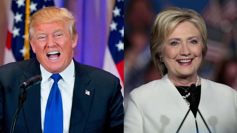 Donald Trump et Hillary Clinton.
